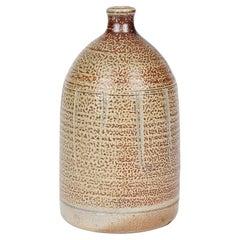 Warwick Parker English Salt Glazed Studio Pottery Bottle Vase