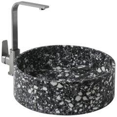 Wash Basin / Vessel Sink 'HUI' Made of Terrazzo 'black'