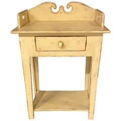 Wash Stand, Country Style, Worn White Paint Finish, Solid Pine by Eddie West