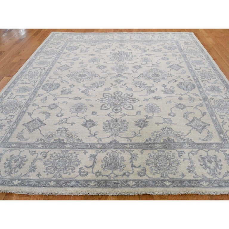 Other Washed Out Peshawar Hand Knotted Pure Wool Oriental Rug For Sale