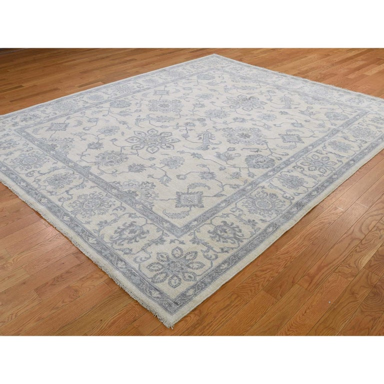Afghan Washed Out Peshawar Hand Knotted Pure Wool Oriental Rug For Sale