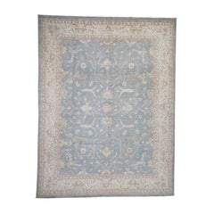 Washed Out Peshawar Hand Knotted Pure Wool Oriental Rug