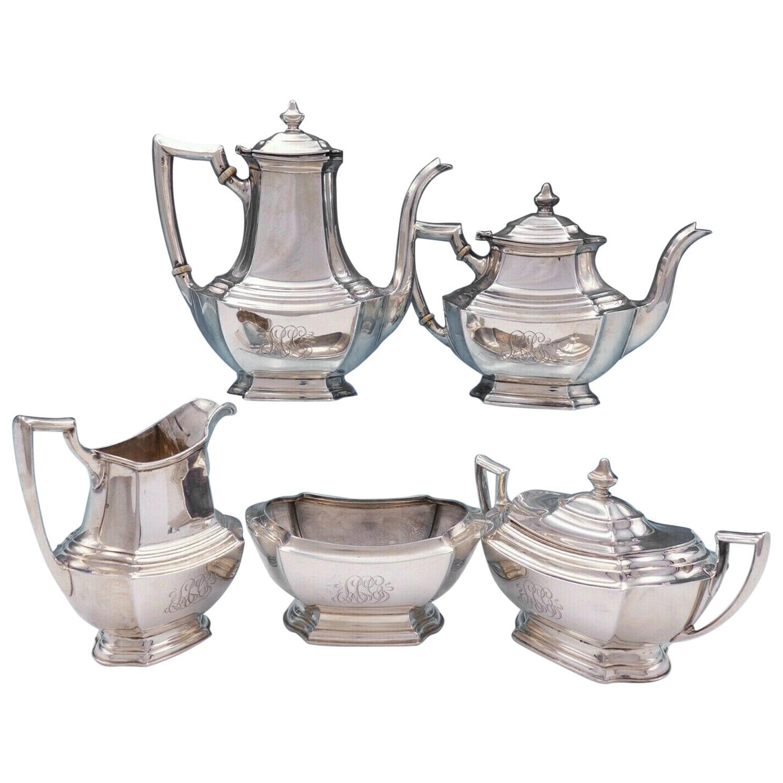 Washington by Wallace Sterling Silver Tea Set 5-Piece #1850