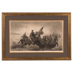 """Washington Crossing the Delaware"" Engraving by Paul Girardet"