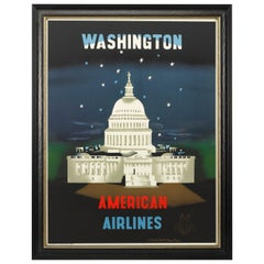 Washington DC American Airlines Travel Poster