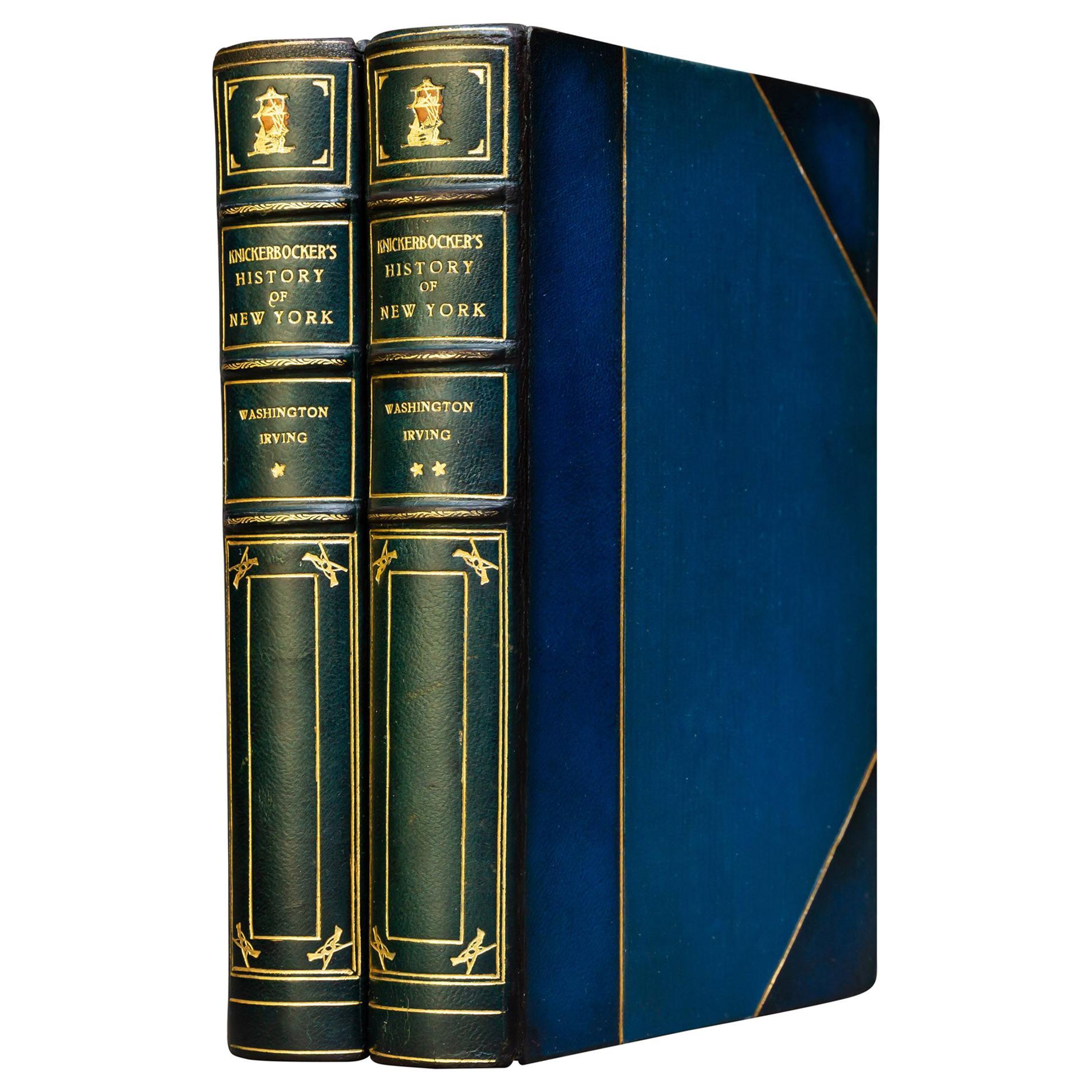 """Washington Irving, Knickerbocker's History of New York"" Book"