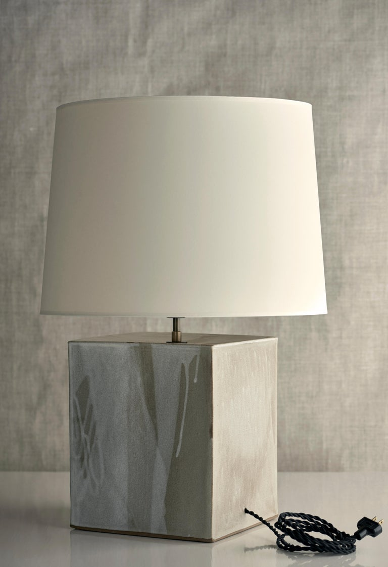 Washington Lamp XL, Ceramic Sculptural Table Lamp by Dumais Made In New Condition For Sale In Bantam, CT