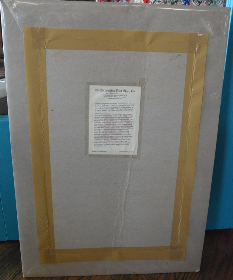 Paper Washington Monument Broadside Lithograph For Sale