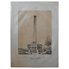 Washington Monument Broadside Lithograph