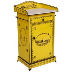 Washstand in Bold Yellow with Marble Top