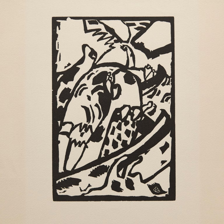 Woodcut by Wassily Kandinsky. Wood engraving for the portfolio