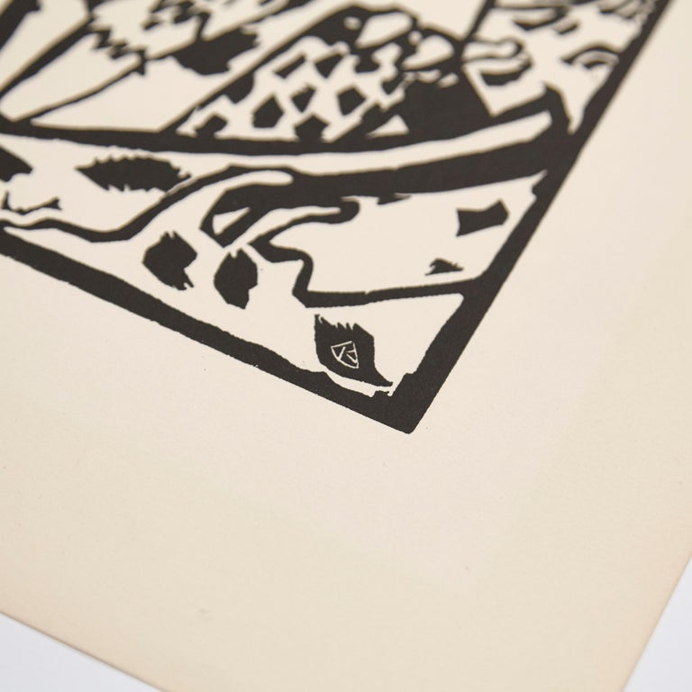 German Wasilly Kandinsky, Wood Engraving for