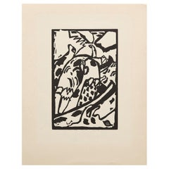"Wasilly Kandinsky, Wood Engraving for ""Klaenge"" Portfolio on Arches Paper"