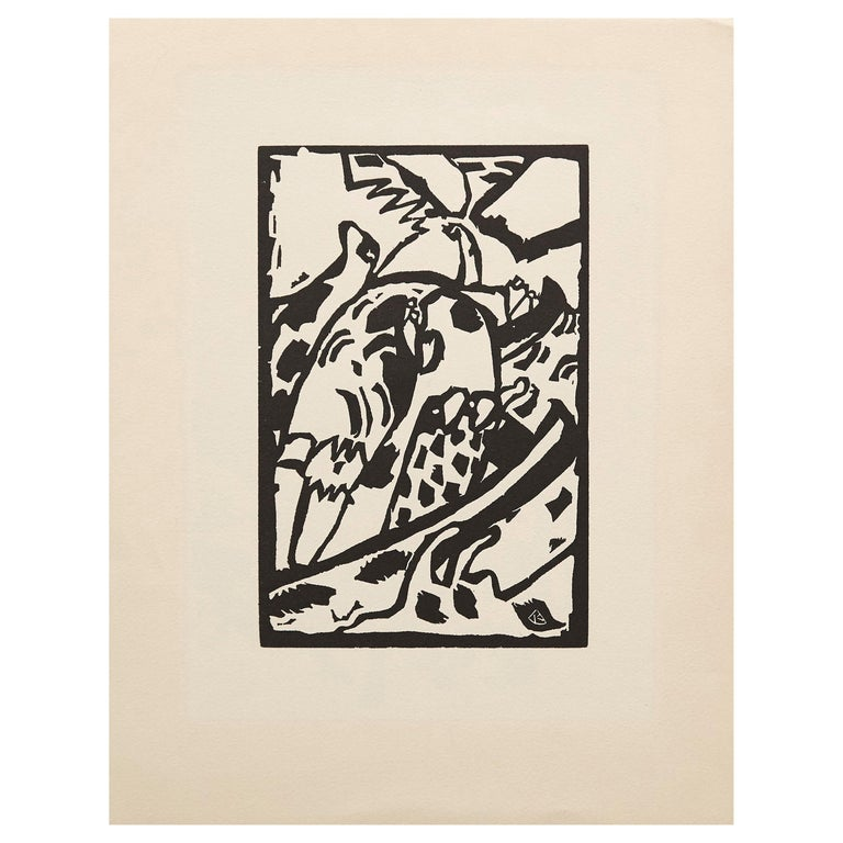 """Wasilly Kandinsky, Wood Engraving for """"Klaenge"""" Portfolio on Arches Paper For Sale"""