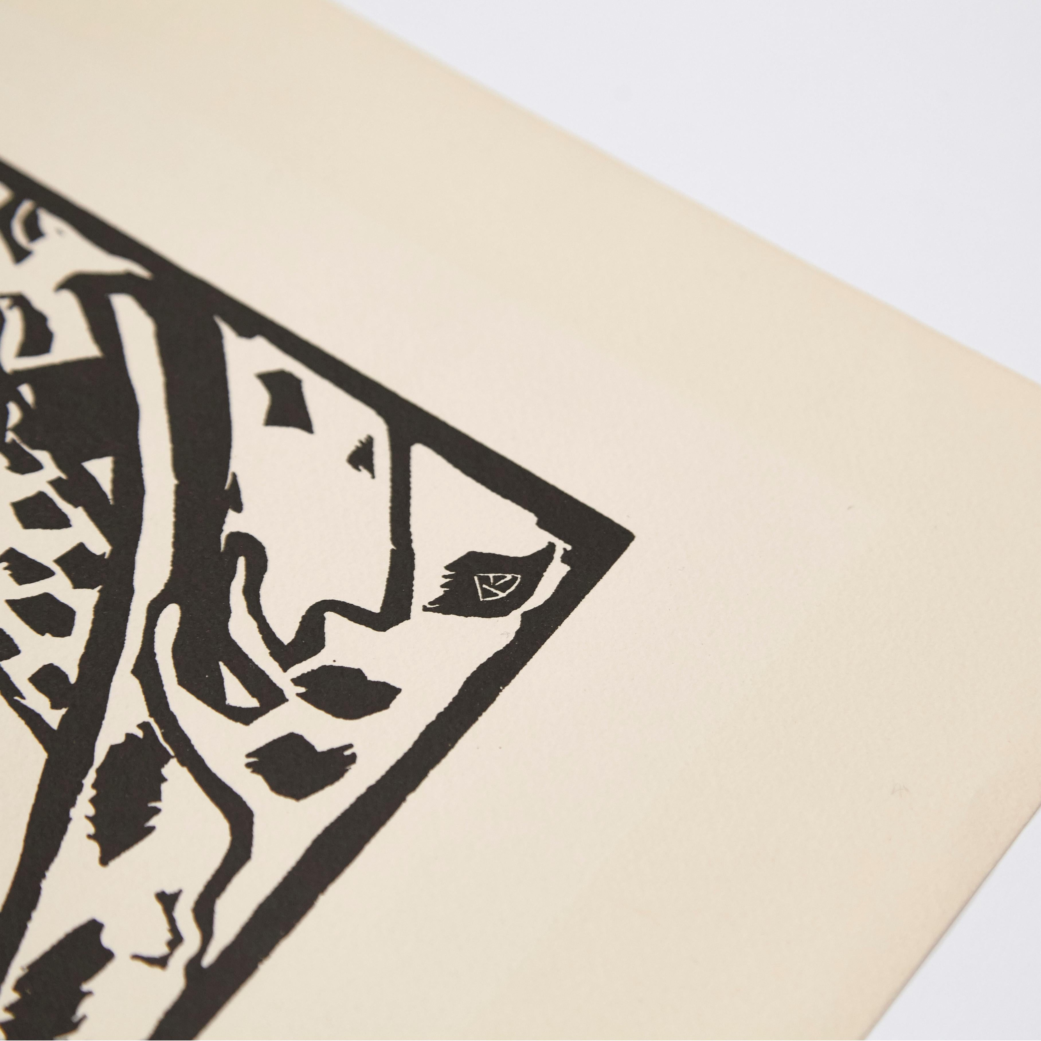 Wasilly Kandinsky, Wood Engraving for