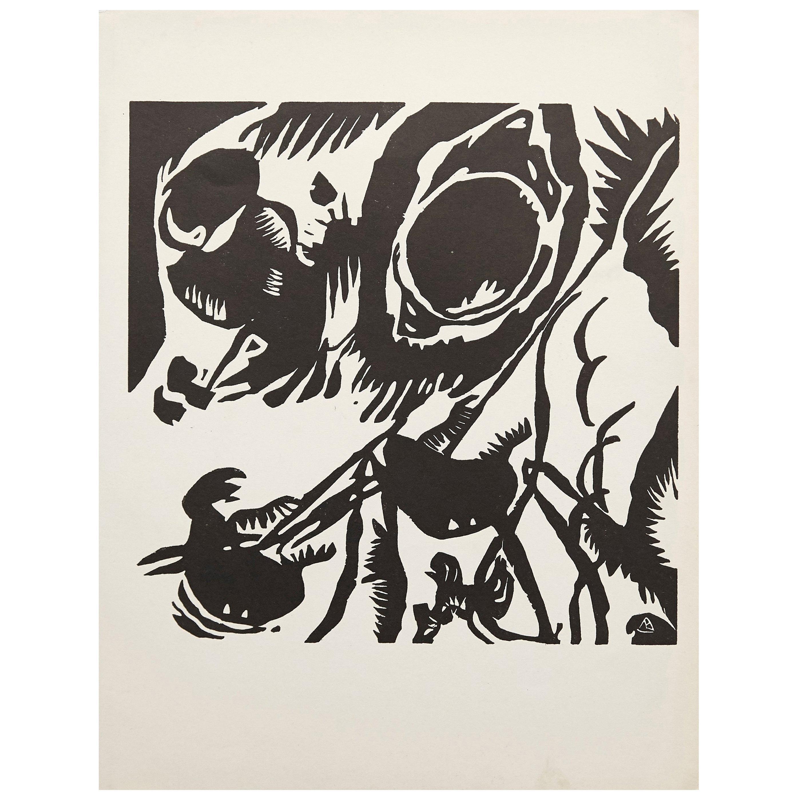 Wasilly Kandinsky Woodcut