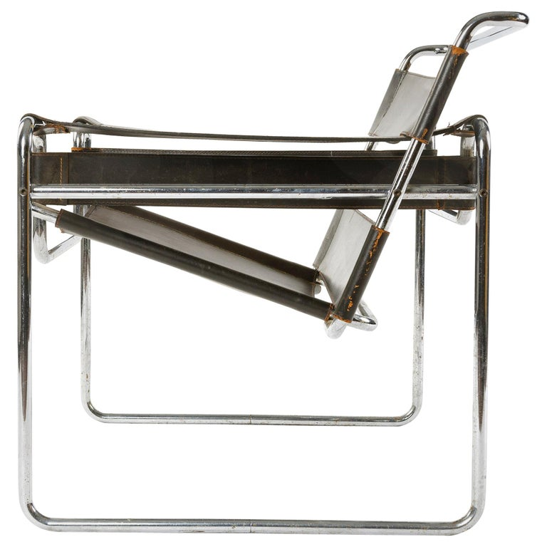 1950s Wassily Chair by Marcel Breuer For Sale