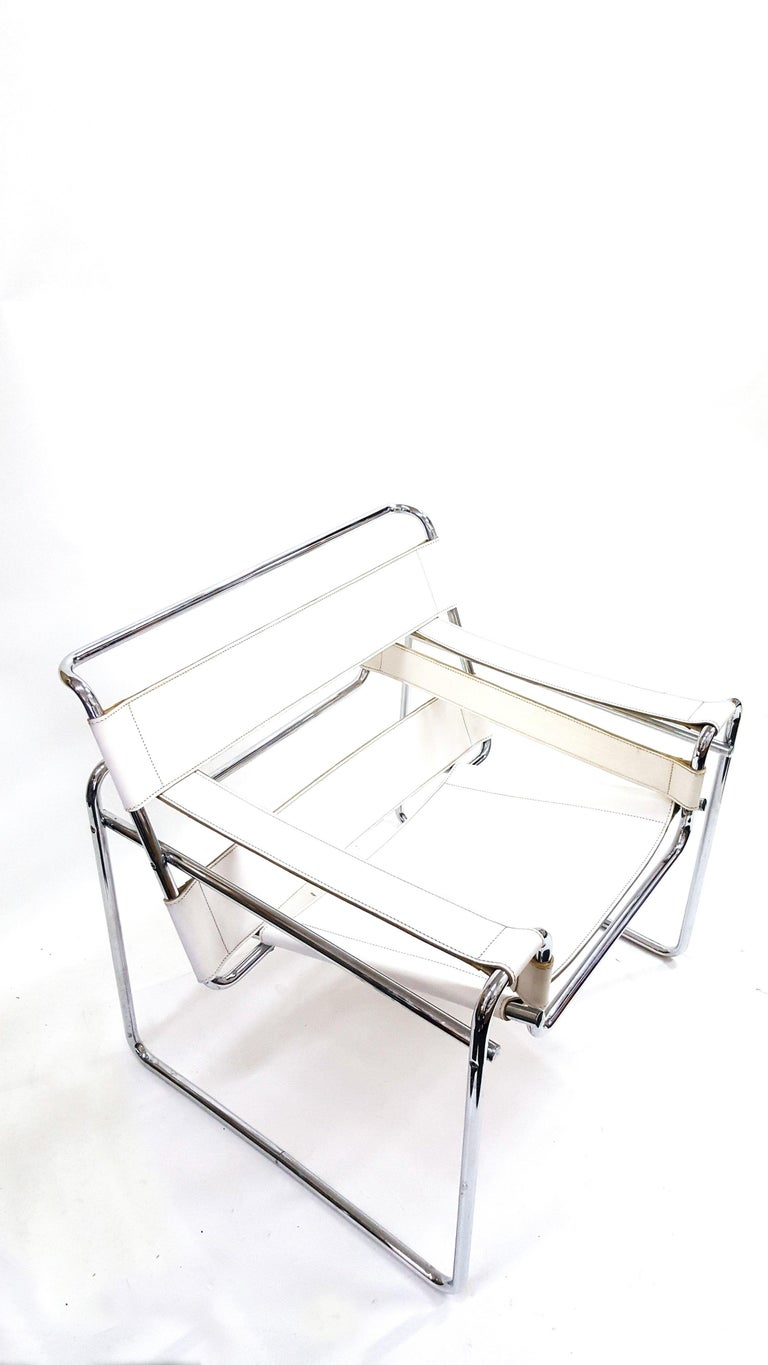 Bauhaus Wassily Chair, Model B3, by Marcel Breuer, Vintage, 1970s For Sale