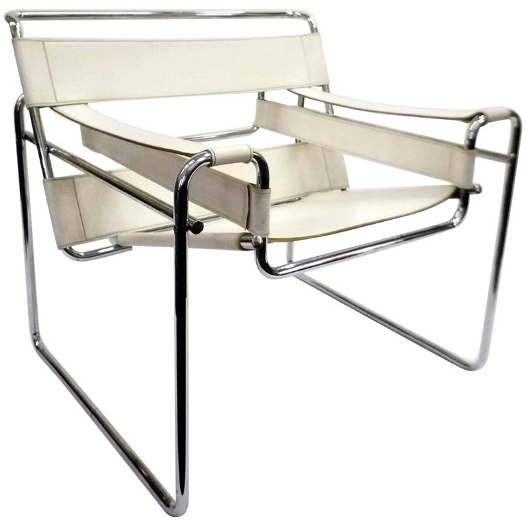Wassily Chair, Model B3, by Marcel Breuer, Vintage, 1970s For Sale