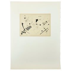 Wassily Kandinsky Abstract Etching, circa 1960