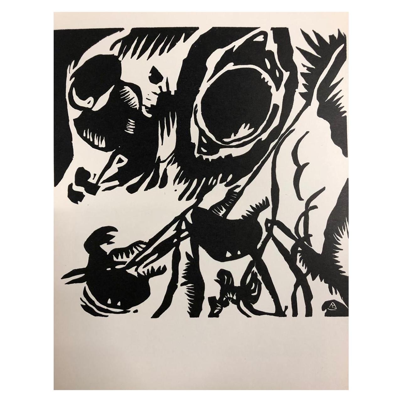 Wassily Kandinsky 'Garten der Liebe' Original Woodcut Engraving, Paris, 1959