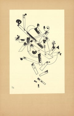 1982 Wassily Kandinsky 'Centenaire (No Text)' Expressionism Black & White France