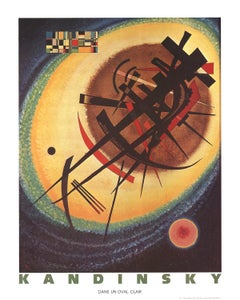 1990 Wassily Kandinsky 'Bright Oval' Abstract Multicolor Germany Offset Lithogra