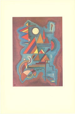 1990 Wassily Kandinsky 'Cut-out Blue and Red and Yellow' Expressionism Multicolo