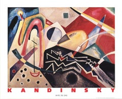 1990 After Wassily Kandinsky 'White Zig Zag' Abstract Multicolor Germany