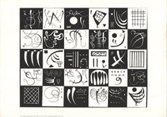 1991 Wassily Kandinsky 'Thirty' Expressionism Black & White Netherlands Serigrap