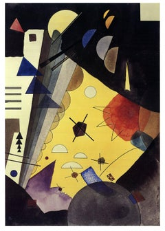2017 Wassily Kandinsky 'Tension in Height (No text)' Expressionism Multicolor Ge