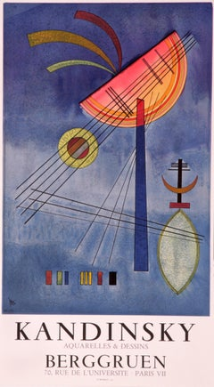 Berggruen by Wassily Kandinsky - colorful abstract lithographic poster