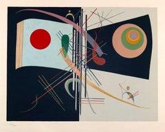 """Composition from """"Derrière Le Miroir""""- Original Lithograph by W. Kandinsky -1937"""