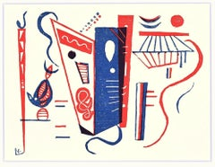 """Composition from """"XXe Siècle"""" - Original Xilygraph by V. Kandinsky - 1939"""