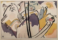 Der Blauer Reiter -  Study for Composition Nr. 4 abstract Kandinsky lithograph