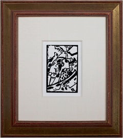 'Improvisation 7' original first ed. woodcut  from 'Klänge' by Wassily Kandinsky