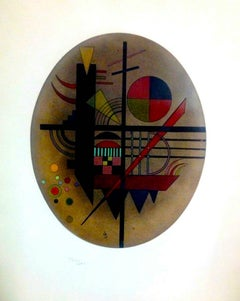 Message Intime - Original Etching and Aquatint by Wassily Kandinsky - 1925
