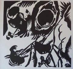 """Motif aus Improvisation 25: The Garden of Love"" - Original woodcut"