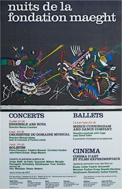 """Nuits de la Fondation Maeght,"" poster by Wassily Kandinsky"