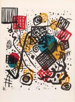 Small Worlds V - Original Lithograph after W. Kandinsky - 1954