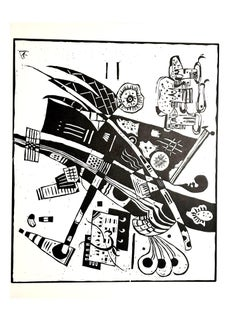 Wassily Kandinsky - Composition - Original Etching