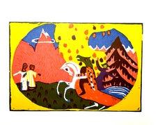 Wassily Kandinsky - Horse Knight - Original Etching