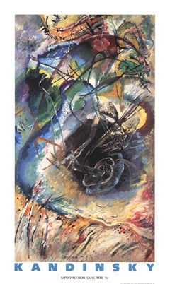 "Wassily Kandinsky-Improvisation Sans Titre-50"" x 30""-Poster-1990-Abstract"