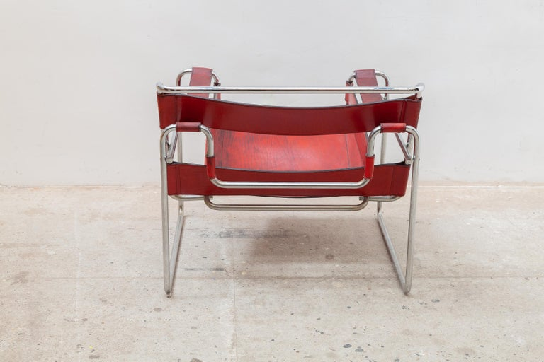 German Wassily Lounge Chair, Side Chair by Marcel Breuer For Sale