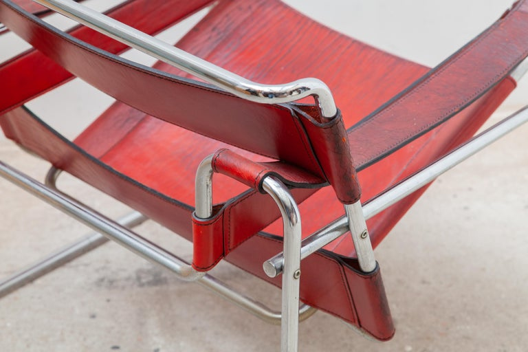 Wassily Lounge Chair, Side Chair by Marcel Breuer In Good Condition For Sale In Antwerp, BE