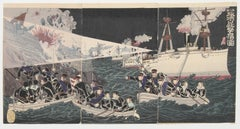 The Second Army Bombarding and Occupying Port Arthur by Watanabe Nobukazu