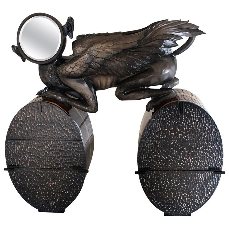 'Watcher' Unique Cabinet from Egli Design For Sale