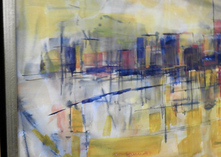 Water Color City Scape by Anton Weiss, 1965 For Sale 3