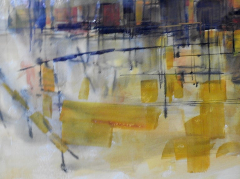 Water Color City Scape by Anton Weiss, 1965 For Sale 6