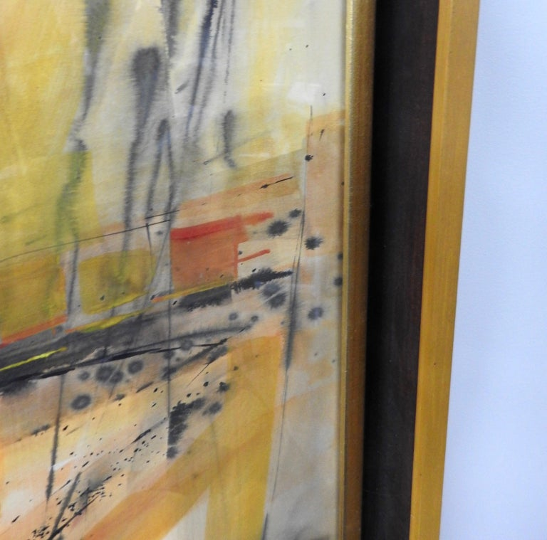 Water Color City Scape by Anton Weiss, 1965 For Sale 8